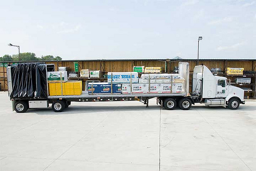 Loaded Conestoga Trailer beats out dry van trailers any day